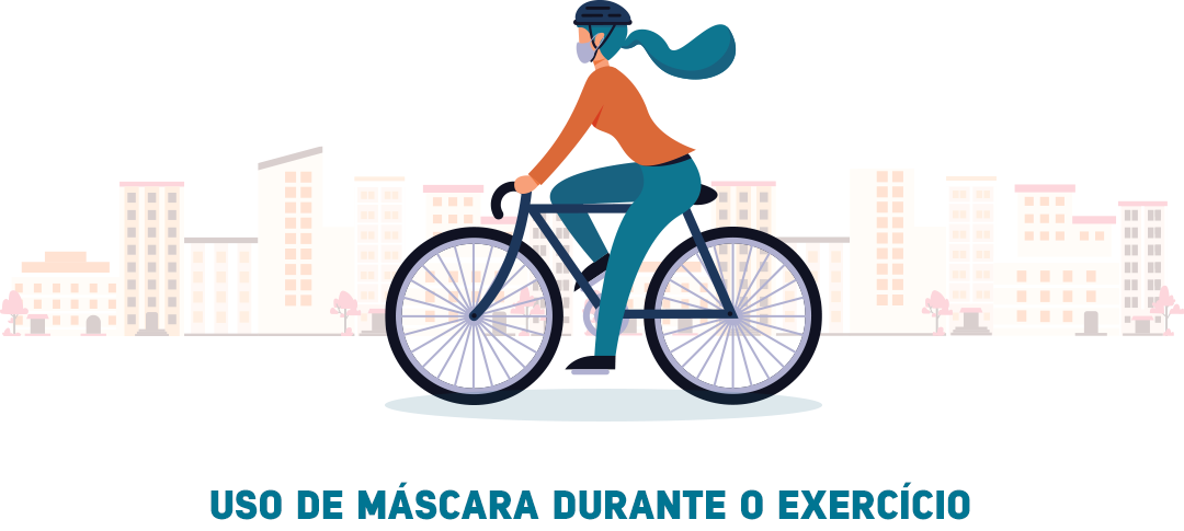 Uso de máscara durante o exercício