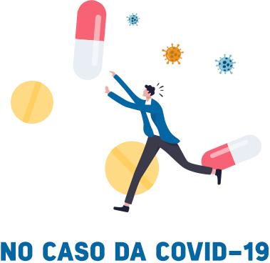 No caso da COVID-19